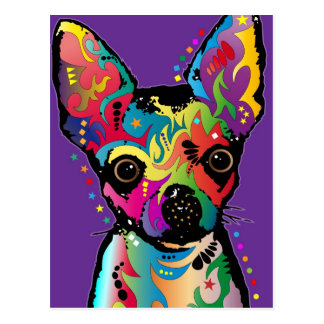 Arte de la chihuahua tarjeta postal