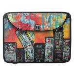 Arte de la ciudad del taxi fundas para macbooks