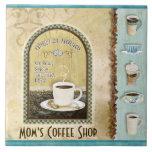 Arte de la cocina de Java Latte de la cafetería de Azulejo Cuadrado Grande