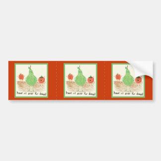 Arte de la comida del niño etiqueta de parachoque