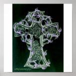 arte de la cruz céltica/de la vid impresiones