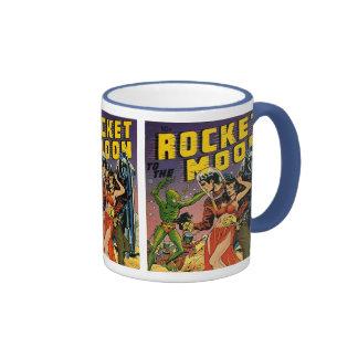 Arte de la cubierta de cómic del vintage de Sci Fi Tazas De Café