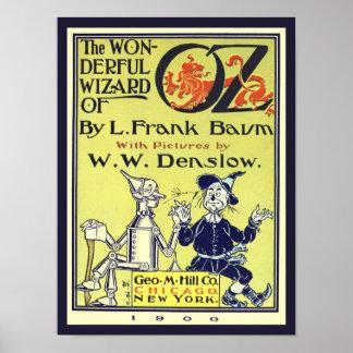 Arte de la cubierta de libro de mago de Oz del Póster