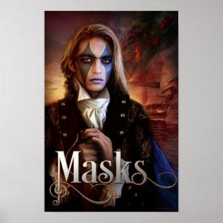 Arte de la cubierta de libro para las máscaras de póster