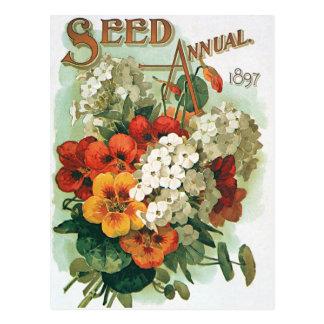 Arte de la cubierta del catálogo de la semilla de postal