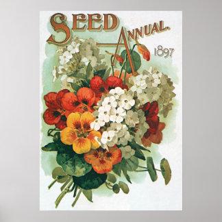 Arte de la cubierta del catálogo de la semilla de póster