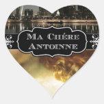 Arte de la cubierta del mA Chere Antoinne Pegatina En Forma De Corazón