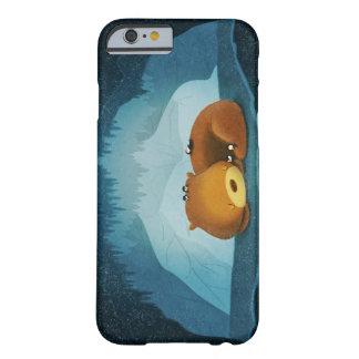 Arte de la cueva del pingüino del oso del invierno funda de iPhone 6 barely there