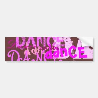 Arte de la danza en rosa pegatina de parachoque