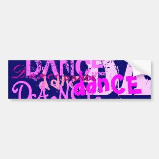 Arte de la danza en rosa pegatina para auto