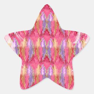 Arte de la decoración de los pétalos de los pegatina forma de estrella
