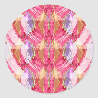 Arte de la decoración de los pétalos de los pegatina redonda