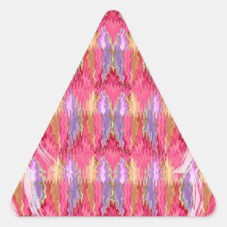 Arte de la decoración de los pétalos de los pegatina triangular