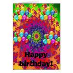 Arte de la enhorabuena del cumpleaños de la ducha  tarjeta