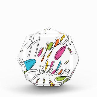 Arte de la escritura del feliz cumpleaños