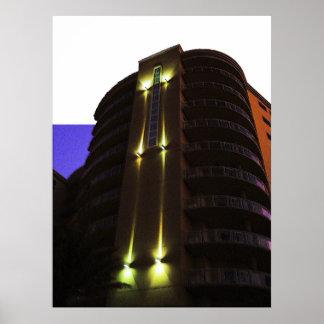 Arte de la esquina 2 de la foto de la arquitectura póster