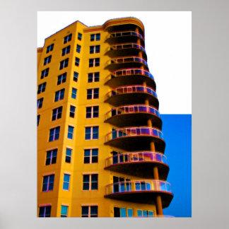 Arte de la esquina 3 de la foto de la arquitectura póster