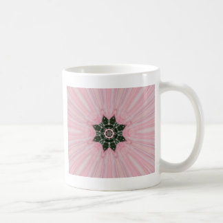 Arte de la estrella del rosa y del copo de nieve taza clásica