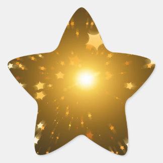 Arte de la estrella pegatina en forma de estrella