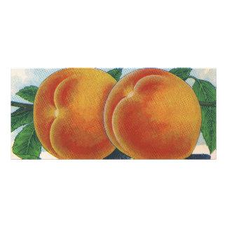 Arte de la etiqueta del cajón de la fruta del diseño de tarjeta publicitaria