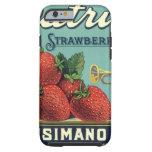 Arte de la etiqueta del cajón de la fruta del funda de iPhone 6 tough