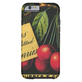 Arte de la etiqueta del cajón de la fruta del funda resistente iPhone 6