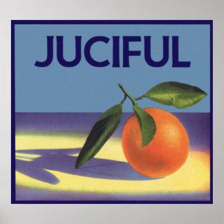 Arte de la etiqueta del cajón de la fruta del póster