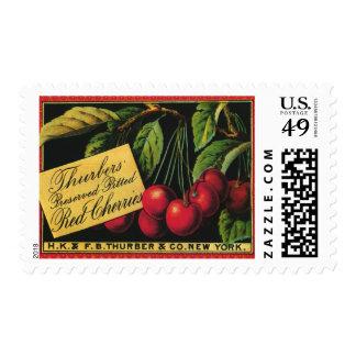 Arte de la etiqueta del cajón de la fruta del sellos