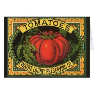 Arte de la etiqueta del cajón de la fruta del felicitacion