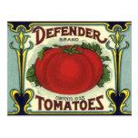 Arte de la etiqueta del cajón de la fruta del tarjetas postales
