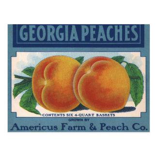 Arte de la etiqueta del cajón de la fruta del tarjeta postal