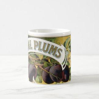 Arte de la etiqueta del cajón de la fruta del taza de café