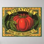 Arte de la etiqueta del cajón de la fruta del vint poster