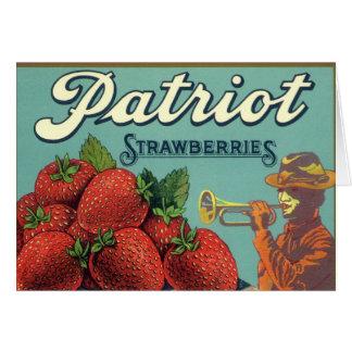 Arte de la etiqueta del cajón de la fruta del vint tarjetas