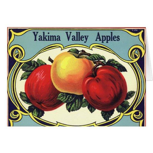 Arte de la etiqueta del cajón de la fruta del vint felicitación