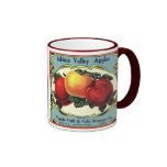 Arte de la etiqueta del cajón de la fruta del vint taza