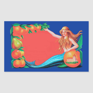Arte de la etiqueta del cajón de la sirena y de la