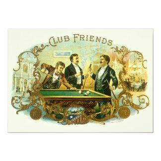 Arte de la etiqueta del cigarro del vintage, invitación 12,7 x 17,8 cm