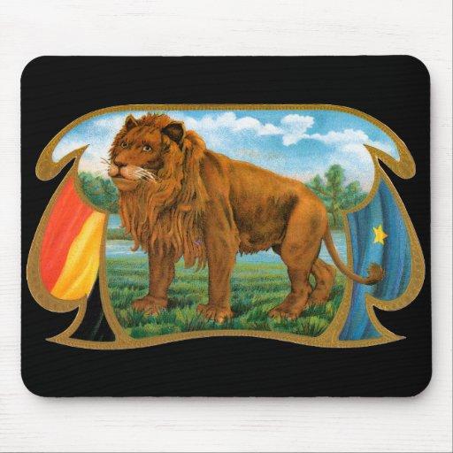 Arte de la etiqueta del cigarro del vintage, rey mousepad