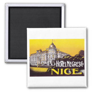 Arte de la etiqueta del hotel de Francia del viaje Imanes De Nevera