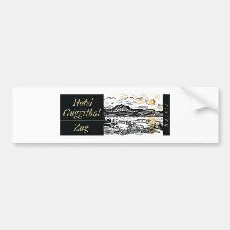 Arte de la etiqueta del hotel del vintage pegatina de parachoque