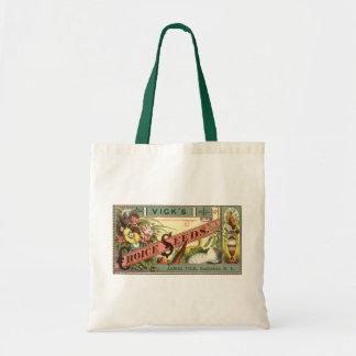 Arte de la etiqueta del paquete de las semillas bolsa tela barata