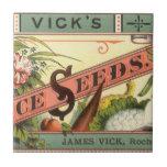 Arte de la etiqueta del paquete de las semillas de teja  ceramica