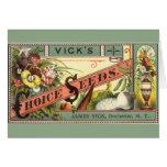 Arte de la etiqueta del paquete de las semillas de tarjetas