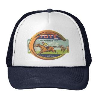 Arte de la etiqueta del producto del vintage, gorra