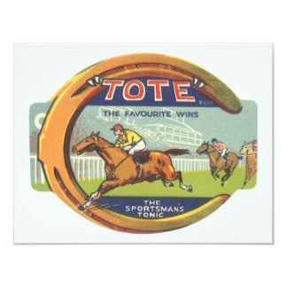 Arte de la etiqueta del producto del vintage, invitación 10,8 x 13,9 cm