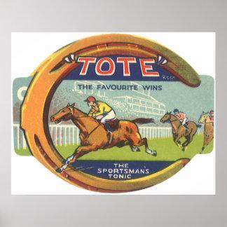 Arte de la etiqueta del producto del vintage, póster