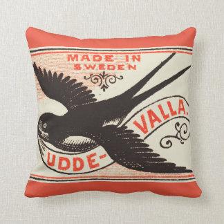 Arte de la etiqueta del trago del vintage cojín decorativo