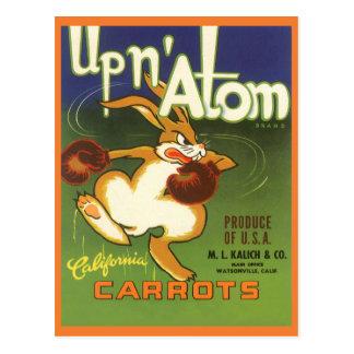 Arte de la etiqueta del vintage, encima de las postal