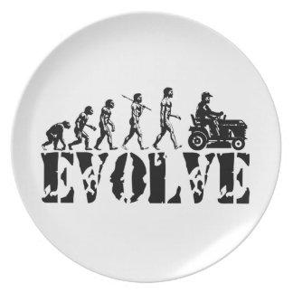 Arte de la evolución del corredor del conductor de platos para fiestas